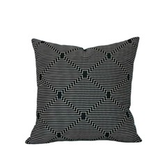 Black Geometric Pillow. Best Gifts for Men.