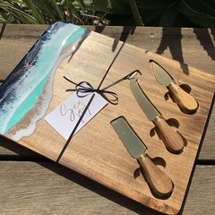 Resin Art Cheeseboard and Knife Set
