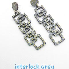 Interlock black and grey