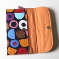 Licorice shapes baby nappy wallet clutch bag