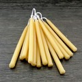 Beeswax birthday candles, small taper candles for celebrations or meditation.