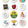 Teacher Edible Icing Cupcake Toppers - PRE-CUT Sheet of 15 - FREE EXPRESS SHIP