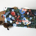 Navy floral nappy wallet clutch bag