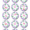 Flamingo Edible Icing Cupcake Toppers - Pre-cut Sheet of 15 - EI261C