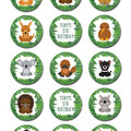 Aussie Animal Edible Cupcake Toppers - Pre-cut Sheet of 15 - EI260C