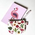 Flamingos tween teen coin purse