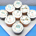 Baby Boy Edible Icing Cupcake Toppers - Pre-cut Sheet of 15 - EI080C