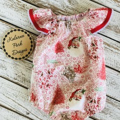 Christmas Seaside Playsuit Size 1 Custom Order for Rebecca