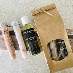Bath Salt Test Tube Gift Set with Bath & Body Oil. Choose Your Scent Blend