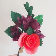 Autumn dream bouquet || crepe paper flowers, home decor, table decor.
