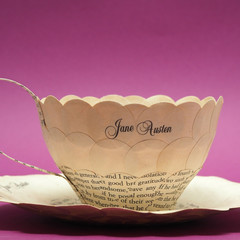 Pride and Prejudice teacup - Jane Austen - paper teacup made from old book pages