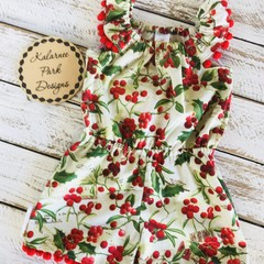 Christmas Playsuit Size 3 Custom Order for Kellie