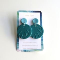 Tropical Xmas Green Earrings
