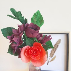 Autumn dream bouquet || crepe paper flowers, home decor, table decor.