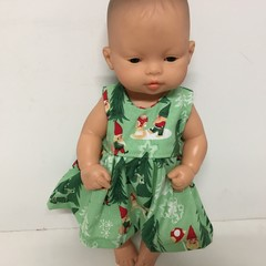 Miniland  Christmas Dolls Dress to fit 32cm Dolls