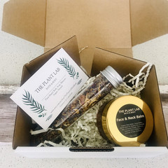Skincare Gift Box. Face Balm + Botanical 'GLOW' Facial Steam Duo. Green Clean