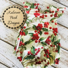 Christmas Playsuit Size 000 Custom Order for Kellie