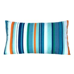 Multicolor Striped Pillow Cover. Holiday Gifts.