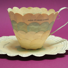 Anne of Green Gables teacup - paper teacup made from old book - literary curio
