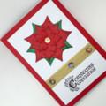 Christmas Card - Large Poinsettia