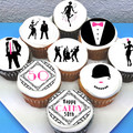 1920's Gatsby Edible Cupcake Toppers - PRE-CUT Sheet of 15 - FREE EXPRESS SHIP