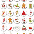 Christmas Mini Edible Icing Cupcake Toppers - PRE-CUT Sheet of 30 - EI027MC
