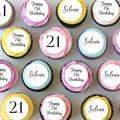 Birthday Mini Edible Cupcake Toppers - PRE-CUT Sheet of 30 - FREE EXPRESS SHIP
