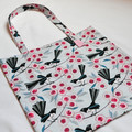 Willie Wagtail Cotton Tote Shopping Bag, Library Bag, Market Bag, Eco Bag