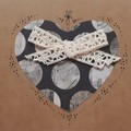 Handmade Vintage Ribbon Heart Card
