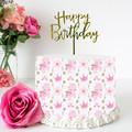 Pink Unicorn Edible Icing Cake Wrap Topper - FREE EXPRESS SHIPPING