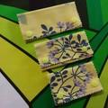 Luggage Bag Travel ID Identifiers -Green lilac flowers