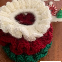 Christmas Crocheted Scrunchies