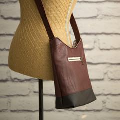the Mini Hobo Bag - upcycled leather jacket