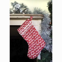 Bah Humbug! Red and white Christmas Stocking