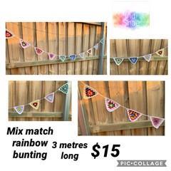 mix match rainbow bunting