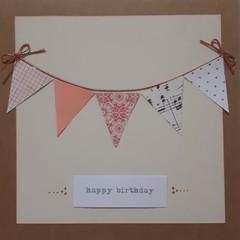 Handmade Happy Birthday Bunting Card