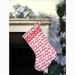 Bah Humbug! White and red Christmas Stocking