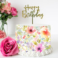Flower Floral Edible Icing Cake Wrap Topper - FREE EXPRESS SHIPPING