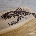 Wood Burnt Fierce Fish Camphor Laurel Cutting Board