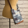 the Mini Hobo Bag - upcycled denim patchwork