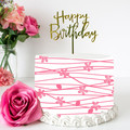 Pink Floral Berries Edible Icing Cake Wrap Topper - FREE EXPRESS SHIPPING