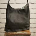 the Hobo Bag - upcycled leather jacket - soft black