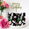 Tropical Floral Edible Icing Cake Wrap Topper - FREE EXPRESS SHIPPING