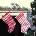 Bah Humbug! Red and white Christmas Stocking