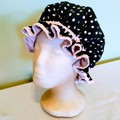 Adult Black and White Spot  Shower Cap