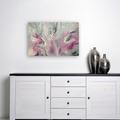 Abstract original painting, black, grey, pink, white, Free Shipping Australia