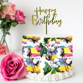 Tropical Floral Edible Icing Cake Wrap Topper - ECW011