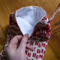 Bah Humbug! White and red Christmas Stocking