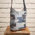 the Mini Hobo Bag - upcycled denim patchwork