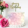 Pink Bokeh Edible Icing Cake Wrap Topper - FREE EXPRESS SHIPPING